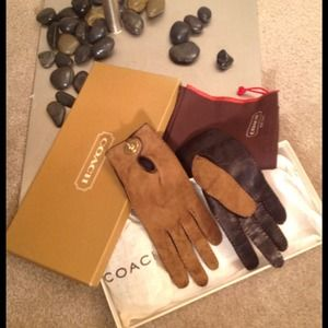 Coach Accessories - Coach gloves leather and suede
