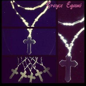 Jewelry - SOLD! Healing Hematite Cross