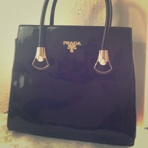 New Prada Top Handle Tote Bag in Black