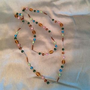Long multicolored necklace