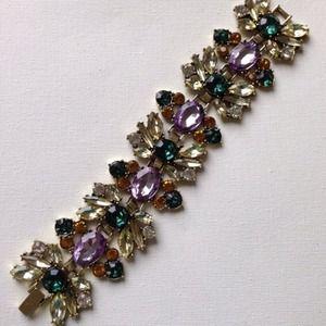 Fall floral crystals bracelet
