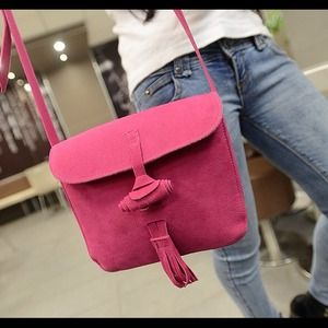 Handbags - New Elegant Tassel Embellished Frosting Small Bag