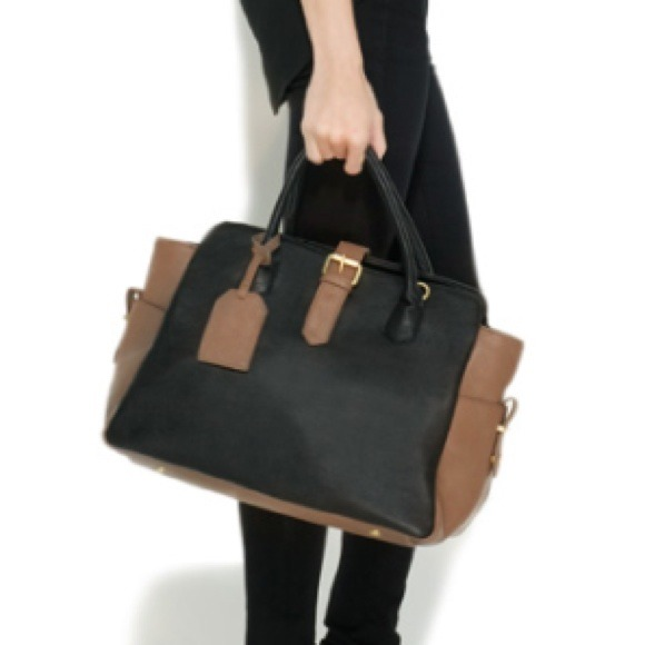 Handbags - Black and Taupe Tote 4