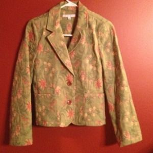 CABI Jackets & Blazers - CABI green floral jacket