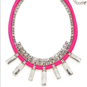 BaubleBar Neon Pink Statement Necklace