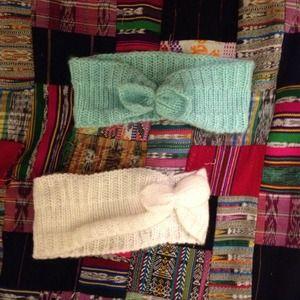 Wrap knit headbands