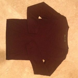 Zara Chocolate Brown V-Neck Sweater.