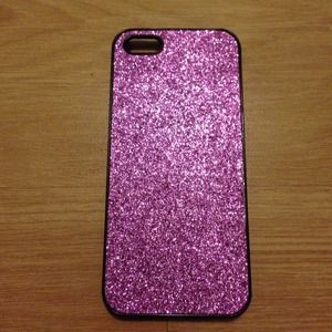 Pink sparkly Iphone 5 case