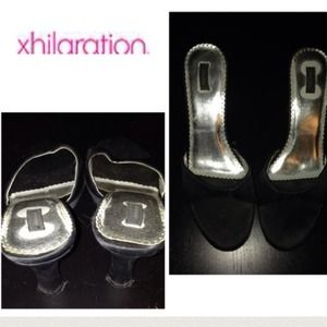 Xhilaration satin heels. Black. 8.5
