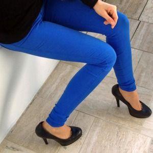 *SOLD* Cobalt Skinny Jeans