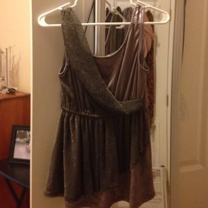 Adorable gold and mauve tank