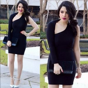 Dresses & Skirts - One Sleeve LBD