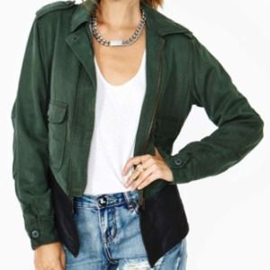 Dakota Collective Genuine Leather Military Jacket!