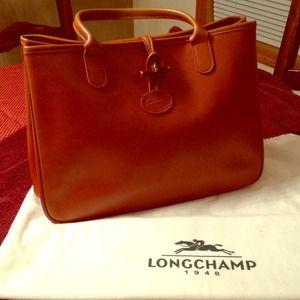 Handbags - Authentic Longchamp leather handbag