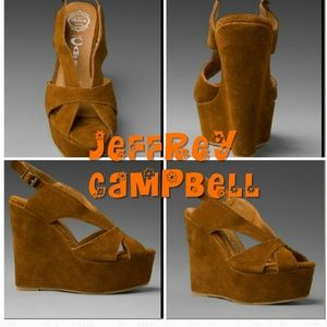 Jeffrey Campbell Shoes - Jeffrey Campbell 'Mariel' brown suede wedges