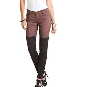 BCBGeneration Denim - BCBGeneration Contrast Colorblocked Skinnies