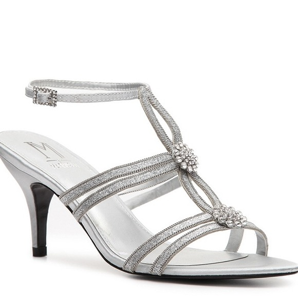 72% off M by Marinelli Shoes - Short Silver formal heels from ...