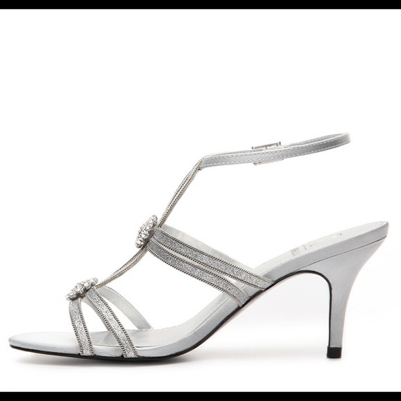 72% off M by Marinelli Shoes - Short Silver formal heels from