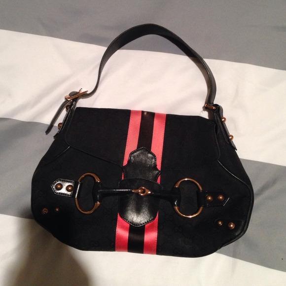 b1ad77ff428 Gucci Handbags - Reduced price Gucci Monogram Horsebit Web Flap Bag