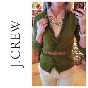 J. Crew Sweaters - J.Crew Etheral Silk Ruffle Cardigan