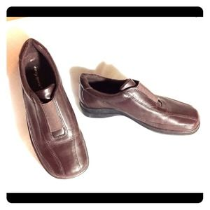 EASY SPIRIT👟Leather Slip-On Loafers Brown 6.5M