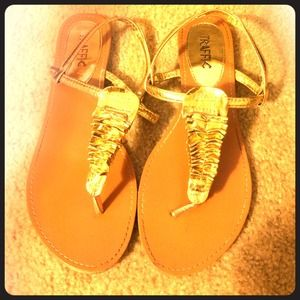 traffic Shoes - Gold Sandals