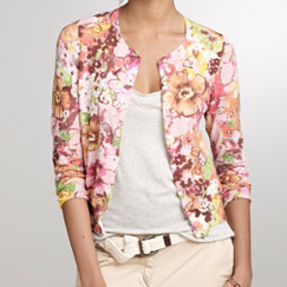67% off J. Crew Sweaters - SOLD J. Crew floral cardigan from ...