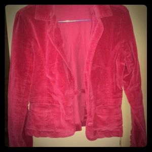 Gorgeous red velvet jacket!!