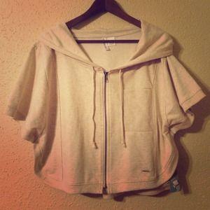 Poncho zip hoodie