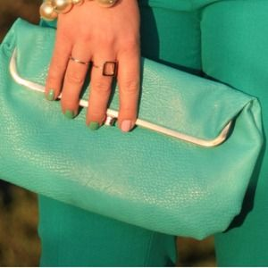 Clutches & Wallets - SOLD!! Turquoise clutch