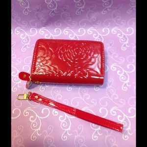 Elegant Clutch/Wallet with Rose Print