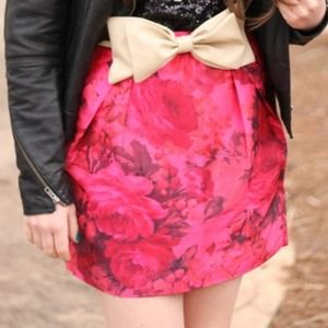 J. Crew Dresses & Skirts - SOLD!! Pink floral mini skirt