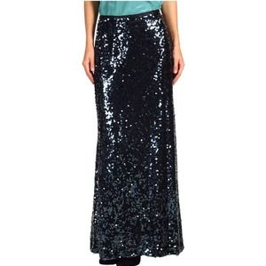 Calvin Klein Dresses & Skirts - Dark Blue Sequin Maxi Skirt