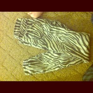 Pants - Zebra printed pants