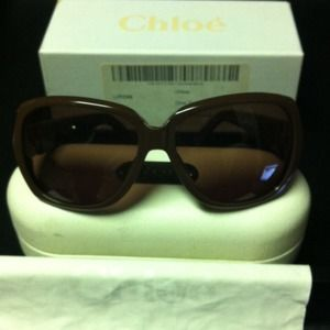 Chloe 2125 sunglasses in Caramel and Gold