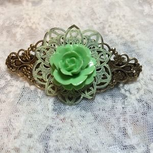 Yellow and Green Metal Barrette