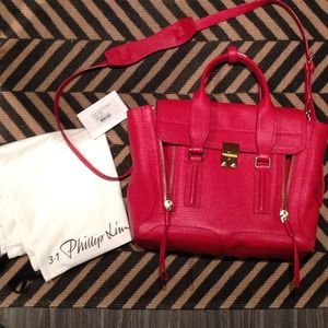 3.1 Phillip Lim Handbags - 3.1 Phillip Lim red Pashli satchel in medium