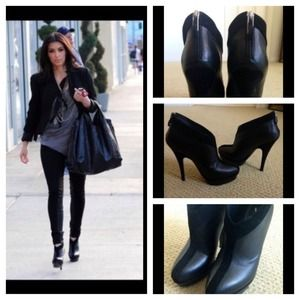 "Yves Saint Laurent Boots - Authentic YSL ""Y"" booties as seen on Kim K"