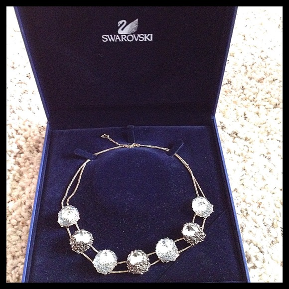 swarovski Jewelry Authentic Crystal Necklace With Box Poshmark