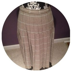 Dresses & Skirts - 🚫SOLD🚫Vintage Houndstooth Pleated Skirt
