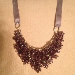 Statement necklace - lavender crystal clusters