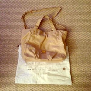 Marc by Marc Jacobs Beige Python Satchel Bag