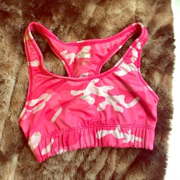 0dfd55c1b0941 Nike Tops - Pink camo nike sports bra