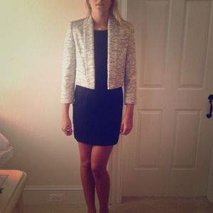 Alice + Olivia Grey Amelia Drape Jacket