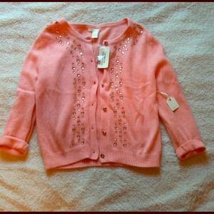 NEW!Peach Cardigan Sweater