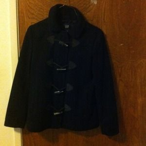 Gap black toggle coat small