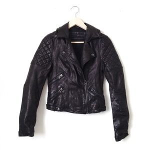 ✨HP!✨ Zara black lambskin moto jacket!
