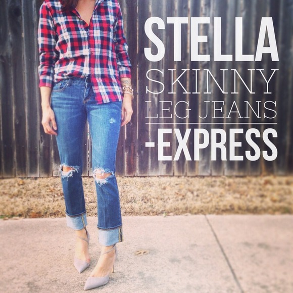71% off Express Denim - Stella Skinny Leg Jeans by Express w ...