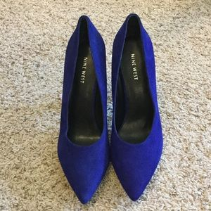 New without tags Nine West Suede Blue Pump 👠