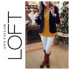 LOFT Sweaters - LOFT Textural Stitch Cable Sweater